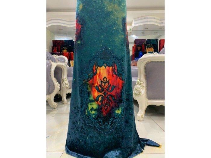Vải áo dài nhung đính đá 9195-143