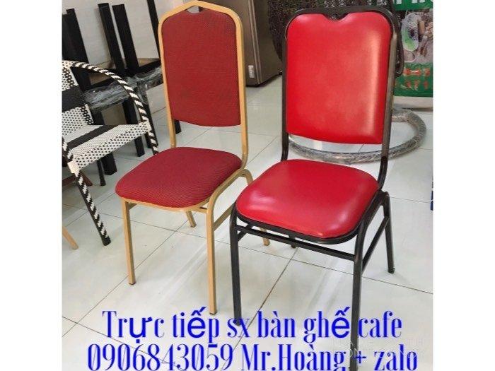 Ghế sắt nệm nhà hàng - nội Thất Nguyễn hoàng0