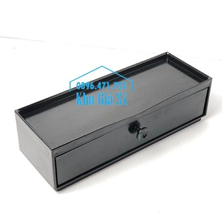Hộp đựng đũa muỗng nhà hàng quán ăn - Hộp đựng đũa bằng nhựa màu đen, màu nâu cánh dán - HCM31