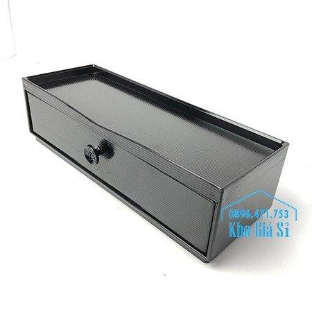 Hộp đựng đũa muỗng nhà hàng quán ăn - Hộp đựng đũa bằng nhựa màu đen, màu nâu cánh dán - HCM20