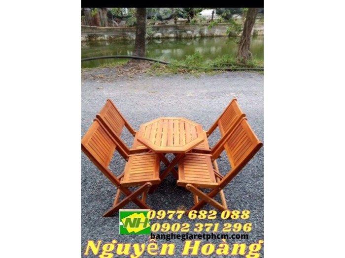 Bộ bàn ghế gỗ xếp (nội thất Nguyễn hoàng tphcm)0
