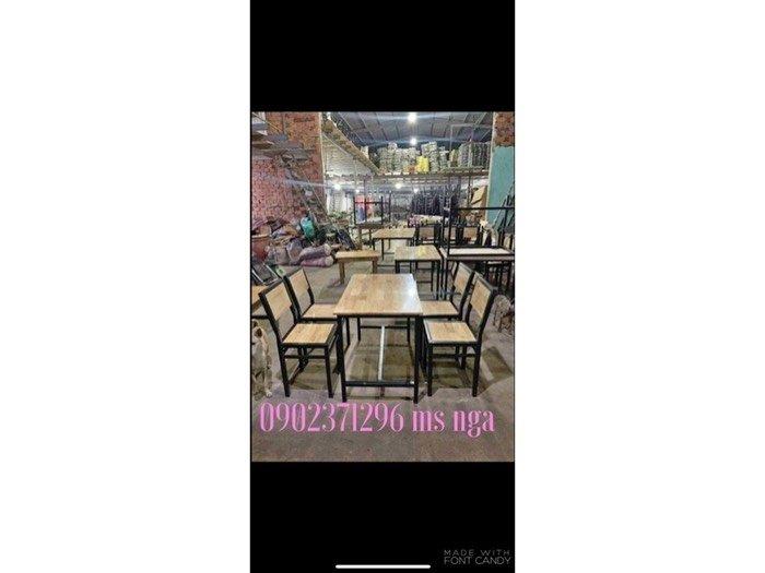 Bộ bàn ghế xếp sắt quán ăn I nội thất Nguyễn hoàng tphcm0