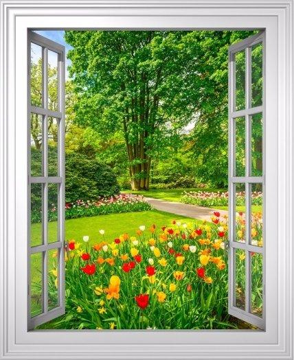 Tranh gạch 3d dán tường vườn hoa - CBV4510