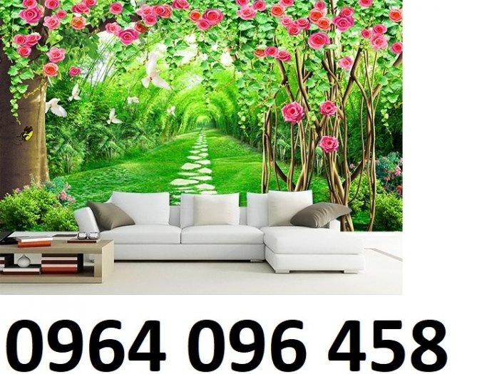 Tranh gạch 3d dán tường vườn hoa - CBV456