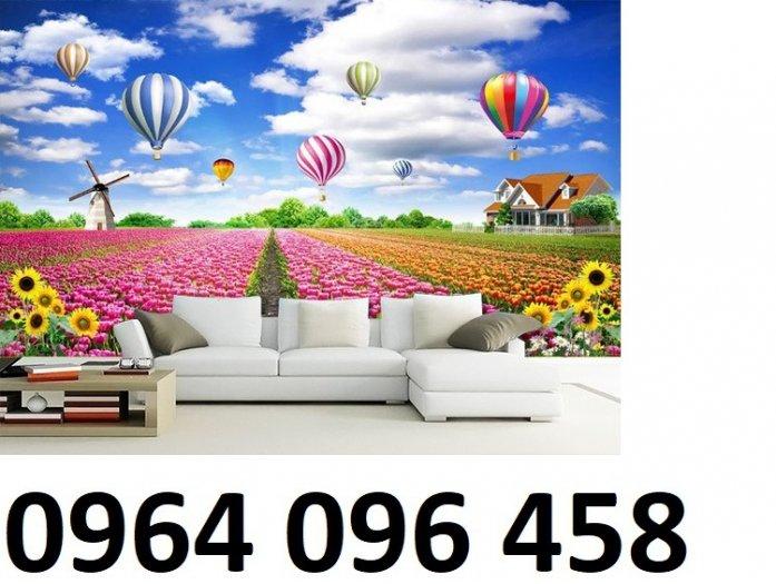Tranh gạch 3d dán tường vườn hoa - CBV455