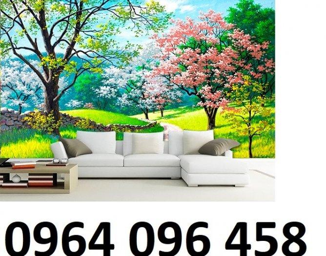 Tranh gạch 3d dán tường vườn hoa - CBV454