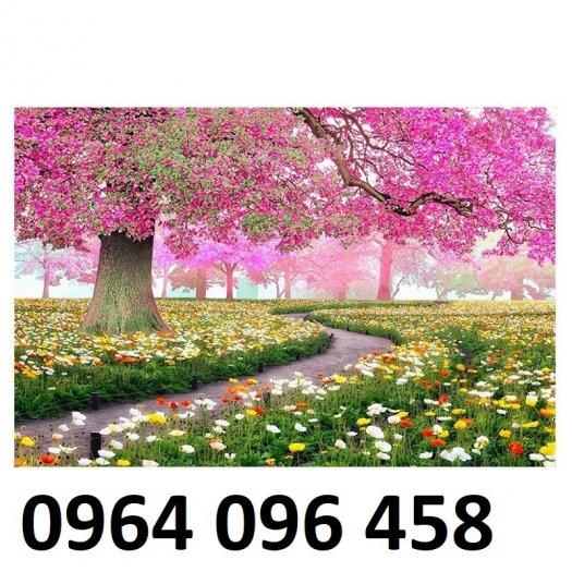 Tranh gạch 3d dán tường vườn hoa - CBV453
