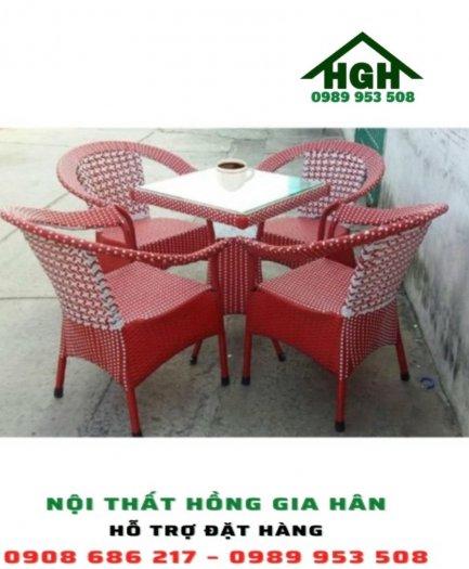 Bộ bàn ghế mây nhựa HGH20