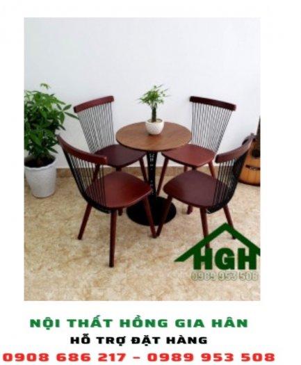 Bộ bàn ghế cafe Hồng Gia Hân 150