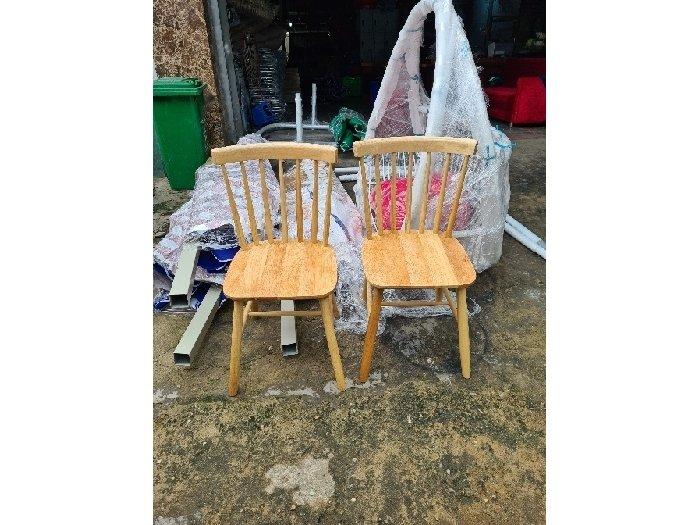 Ghế gỗ thanh tiện ghế 7 nan tự nhiên