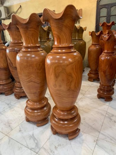 Giá lục bình gỗ Hương đỏ phong thuỷ 1m8 khơi thông tài lộc3