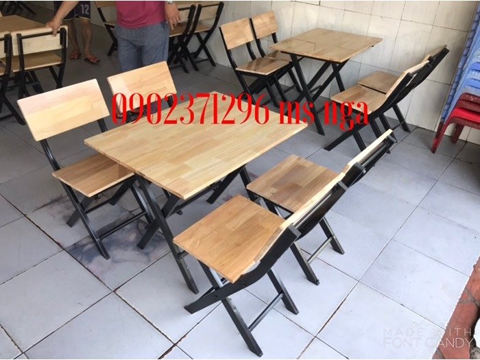 Bộ bàn ghế xếp quán ăn nội thất Nguyễn hoàng tphcm0