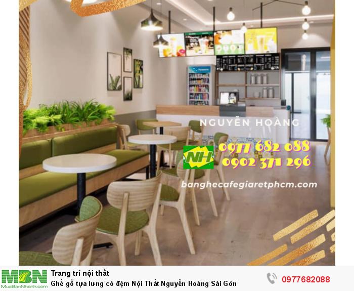 Ghế gỗ tựa lưng có đệm Nội Thất Nguyễn Hoàng Sài Gòn0