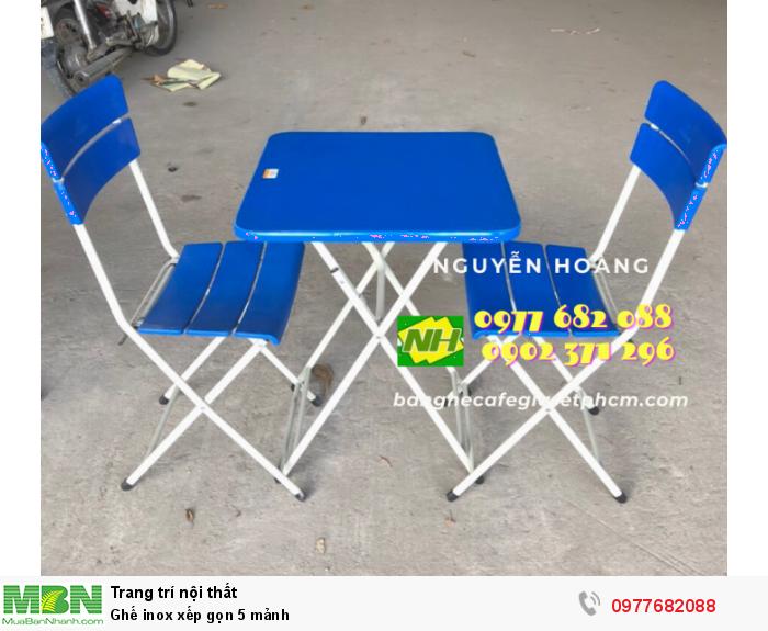 Ghế inox xếp gọn 5 mảnh 0