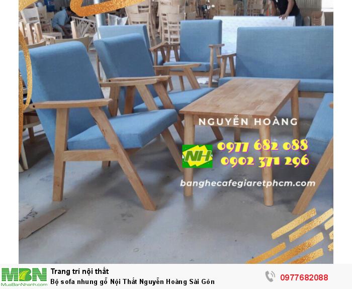 Bộ sofa nhung gỗ Nội Thất Nguyễn Hoàng Sài Gòn 0