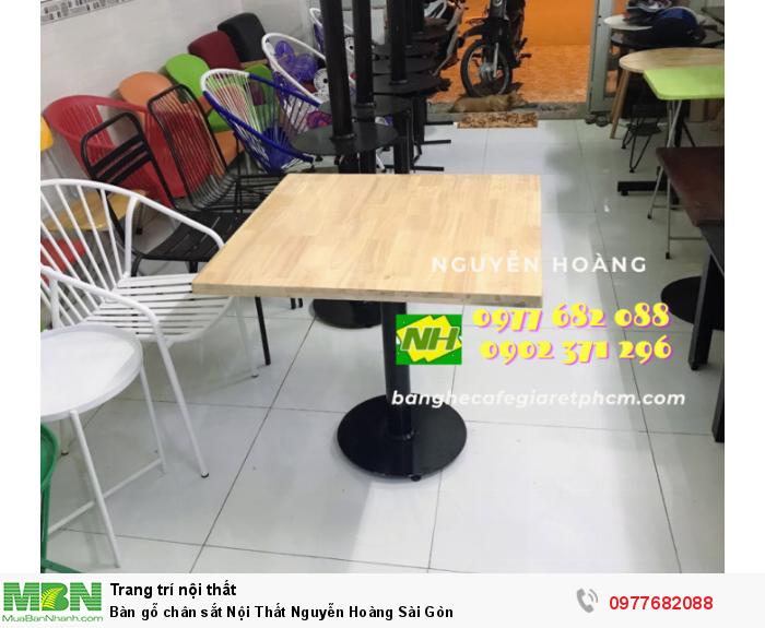 Bàn gỗ chân sắt Nội Thất Nguyễn Hoàng Sài Gòn 0