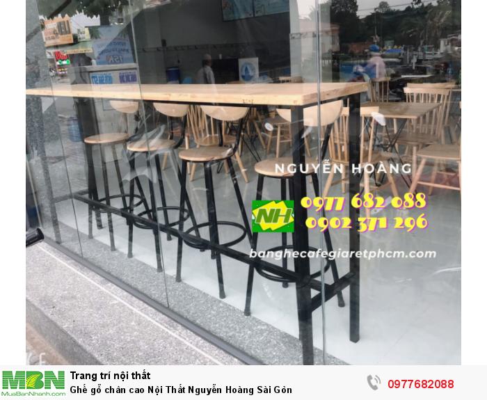 Ghế gỗ chân cao Nội Thất Nguyễn Hoàng Sài Gòn0