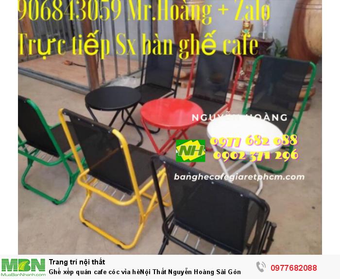 Ghế xếp quán cafe cóc vỉa hèNội Thất Nguyễn Hoàng Sài Gòn 0