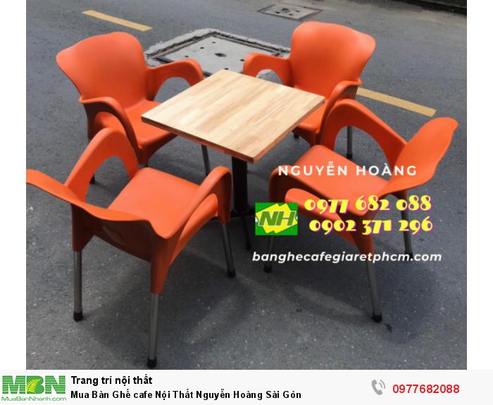 Bàn Ghế cafe Nội Thất Nguyễn Hoàng Sài Gòn 09776820881