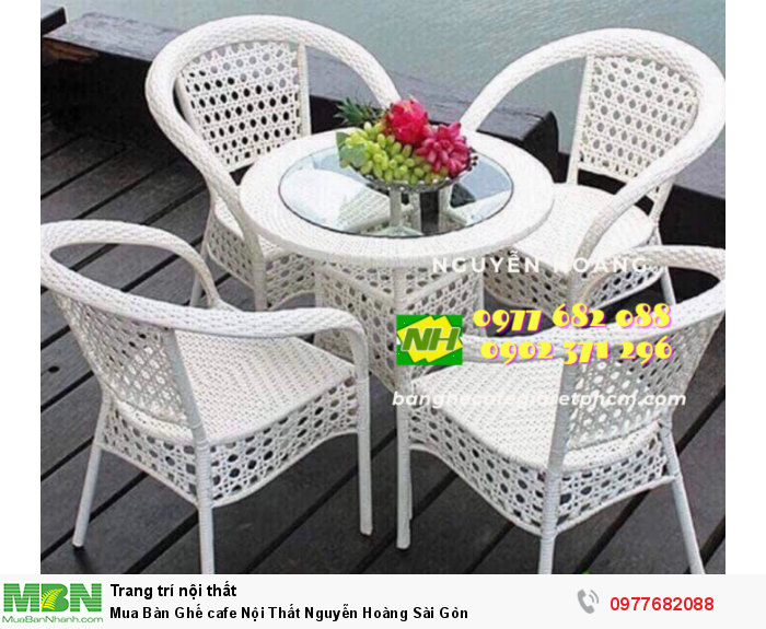 Bàn Ghế cafe Nội Thất Nguyễn Hoàng Sài Gòn 09776820884