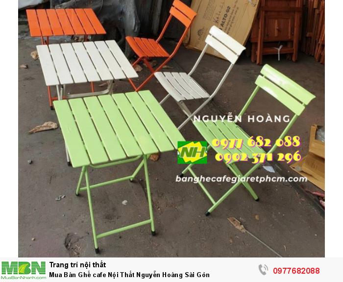 Bàn Ghế cafe Nội Thất Nguyễn Hoàng Sài Gòn 09776820887