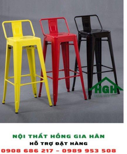 Ghế bar chân cao có lưng tựa HGH20