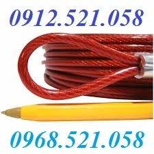 Cung cấp 1000M cáp thép bọc nhựa màu đỏ 10 ly tại Hà Nội.7