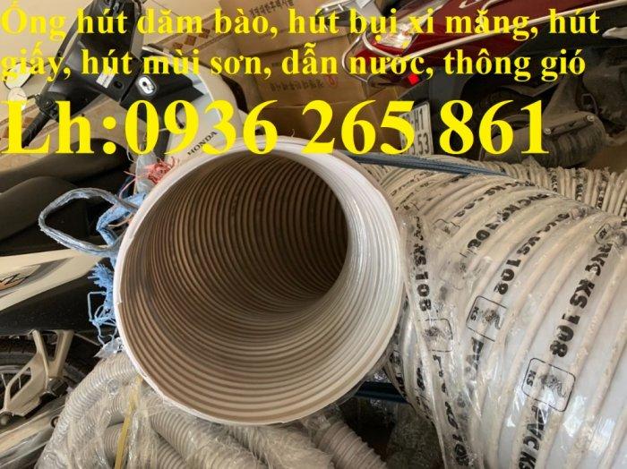 Ống nhựa ruột gà lắp quạt hút bụi gỗ, bụi giấy, bụi xi măng, hút vỏ hạt nông sản, hút mùi sơn16