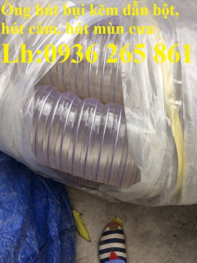 Ống nhựa ruột gà lắp quạt hút bụi gỗ, bụi giấy, bụi xi măng, hút vỏ hạt nông sản, hút mùi sơn3