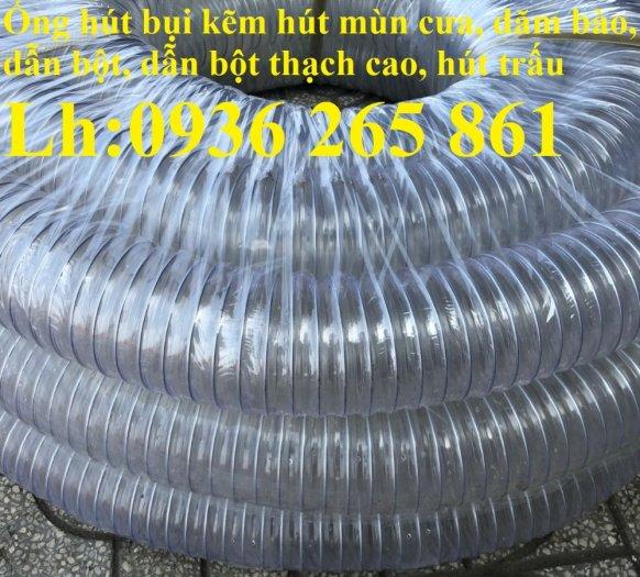 Ống nhựa ruột gà lắp quạt hút bụi gỗ, bụi giấy, bụi xi măng, hút vỏ hạt nông sản, hút mùi sơn0