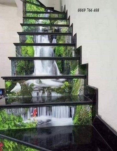 Tranh cầu thang-tranh gạch, tranh kính 3D