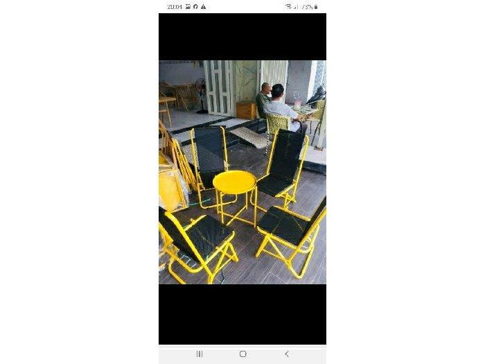 Bộ bàn ghế xếp lưới cao cấp giá tại xưỡn0