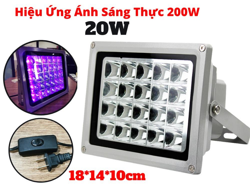 Đèn UV 20W Hiệu Năng Thực Tế 200W Sấy Keo UV Soi Tiền Khử Trùng-UV200W1