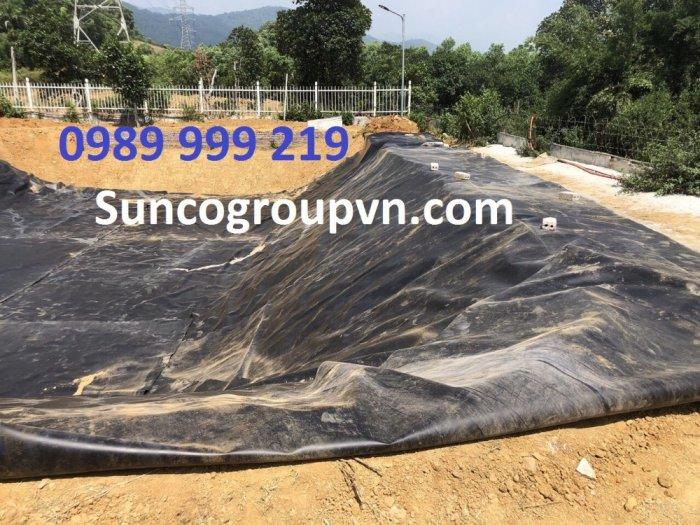 Bạt nhựa HDPE 0.3mm-k6-50m lót bể cá koi cty suncogroup việt nam 20213