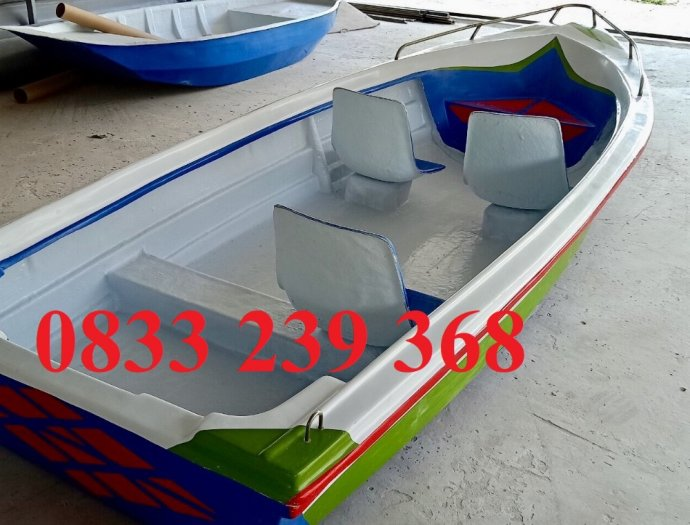 Thuyền composite chở 3 người, thuyền tam bản 3m, Thuyền chèo tay 3m2