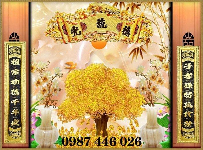 Gạch tranh phòng thờ đẹp HP3477
