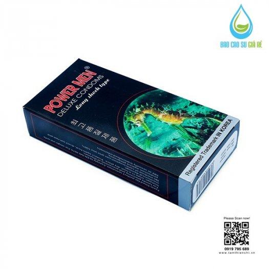 Bao Cao Su Powermen Cá Ngựa 4 In 1 (Hộp 12 Cái) Tặng Gel Bôi Trơn cao cấp4