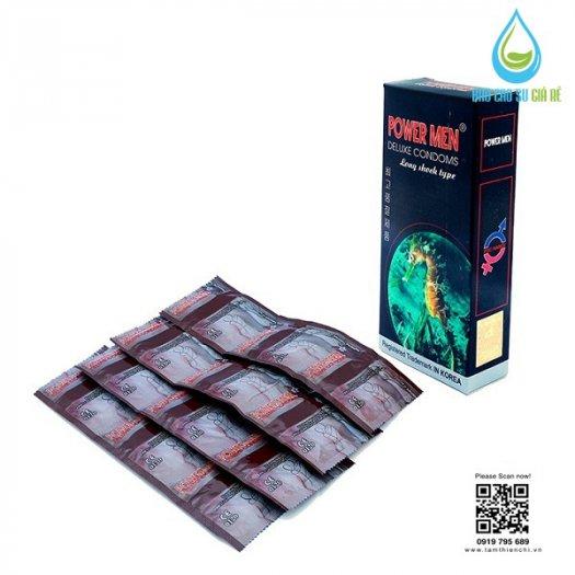 Bao Cao Su Powermen Cá Ngựa 4 In 1 (Hộp 12 Cái) Tặng Gel Bôi Trơn cao cấp1