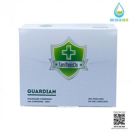 Bao Cao Su Mỏng TTC Guardian (Hộp 144 Cái) Tặng 5 Gói Gel cao cấp