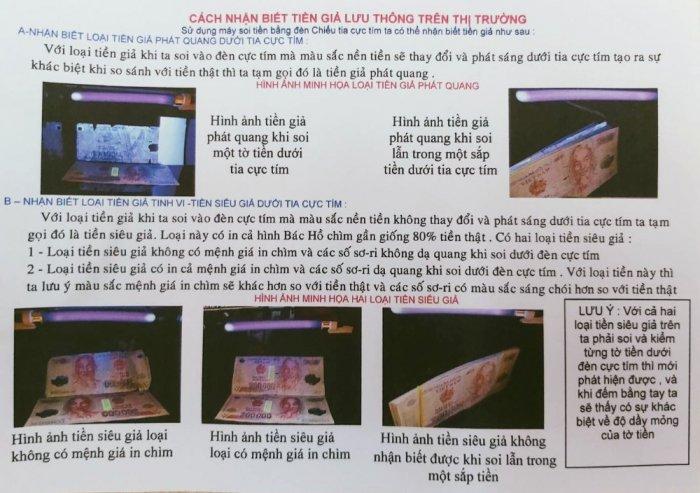 Đèn UV - Magic Eye 03 soi tiền, giấy tờ xe, vé số...2