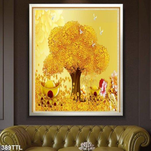 Tranh cây đón lộc - tranh cây tiền