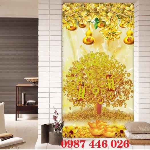 Gạch tranh gạch cây tiền vàng HP344