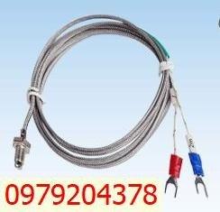 Cảm biến nhiệt can K ren 6.3mm dây dài 4 mét1