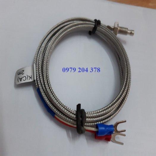 Cảm biến nhiệt can K ren 6.3mm dây dài 4 mét0