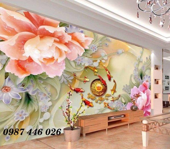 Tranh gạch men hoa 3d ốp tường HP0609214