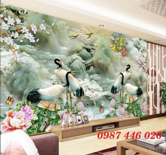 Tranh gạch men hoa 3d ốp tường HP0609212