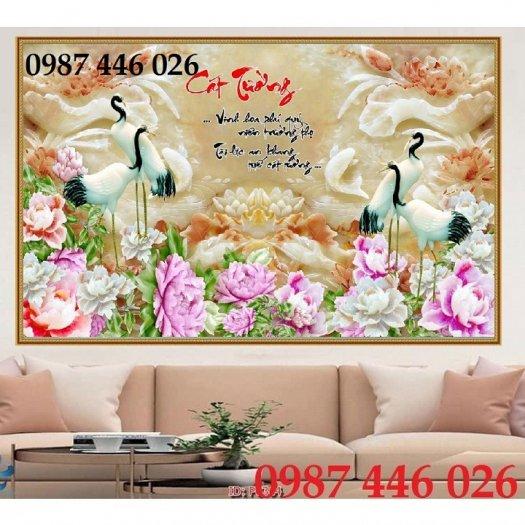 Tranh gạch men hoa 3d ốp tường HP0609211