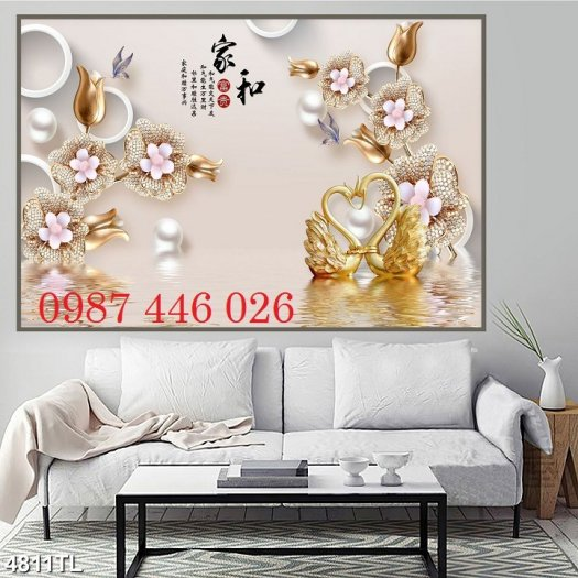 Tranh gạch men hoa 3d ốp tường HP060927