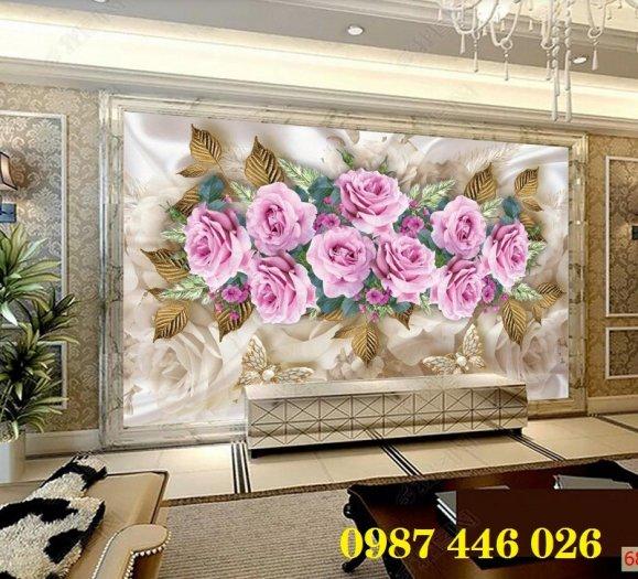 Tranh gạch men hoa 3d ốp tường HP060925