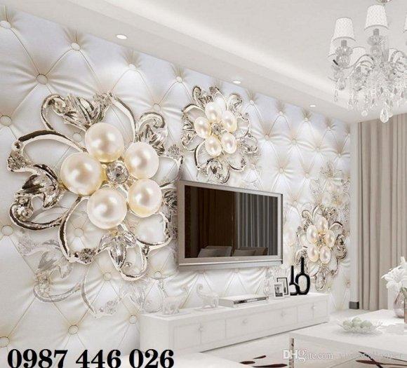 Tranh gạch men hoa 3d ốp tường HP060922